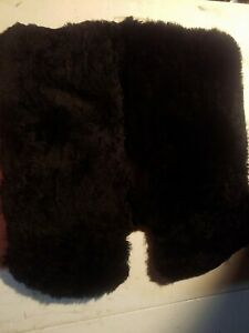 Black Authentic Real Sheepskin Seat Cushion Pad