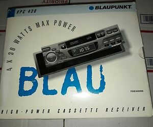 Blaupunkt Vintage Tape Car Stereo 30 Watts X 4 Model Name Rpc 430 New In Box