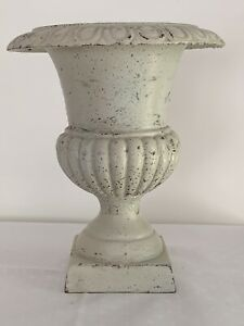 Vintage Heavy Cast Iron Urn Planter Shabby Chic 8 5 Tall Garden Urn