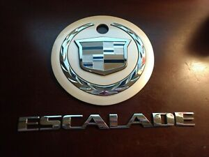 02 03 04 05 06 Cadillac Escalade Rear Lid Emblem Badge Logo Symbol Sign Oem 2003