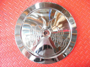 Flame Air Cleaner Lid Muscle Car 14 Diameter Chrome Air Filter 14 Inch Top