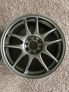Jdm 17 Work Emotion Cr Kai 17x7 42 4x114 3 Rims Toyota Nissan Honda Set Of Two