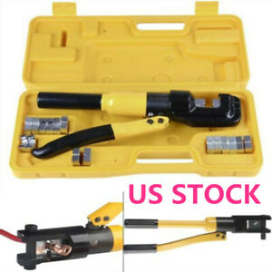 Us Crimping Hydraulic Wire Terminal 16 Ton Battery Cable Lug Dies Crimper Tool