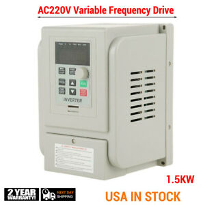 1 5kw 220v Vfd Variable Frequency Drive Inverter Speed Controller Converter Usa