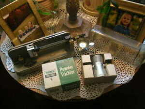 Vintage Ohaus 10-10 Precision Reloading Powder Scale and RCBS Powder Trickler