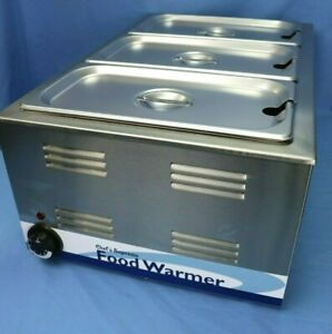 Countertop Steam Table With 3 1 3 Pans Lids