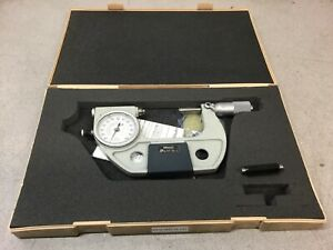 Mitutoyo 510 123 Dial Indicating Micrometer Ratchet Stop 50 75 Mm Range