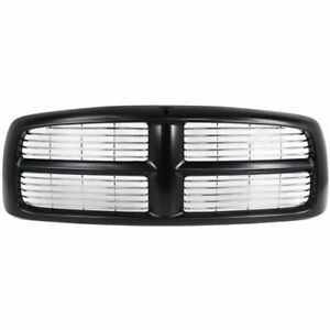 New Grille Black Painted Frame Front For Dodge Ram 1500 2002 2005 Ch1200259
