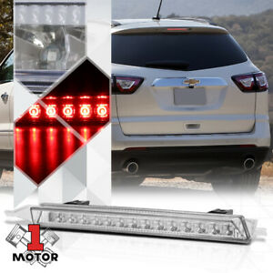 Chrome clear Rear Led Third 3rd brake Light For 09 17 Chevy gmc Traverse acadia