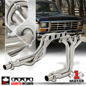 Ss Long Tube Exhaust Header Manifold For 80 82 Ford F150 F250 F350 5 8 6 6 V8