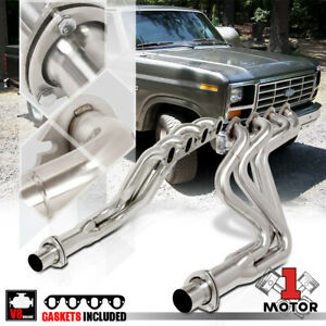 Stainless Steel Long Tube Exhaust Header Manifold For 83 87 Ford F250 f350 7 5