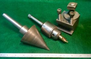 South Bend Atlas Logan Craftsman Lathe Hardware Lot Jacobs Chuck Boring Cone