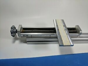 Nb Linear Actuator Bg2602a 250h r0s With Aluminum Stage And Hand Crank