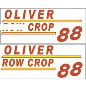 901h Oliver 88 Row Crop Tractor Hood Decal Set