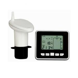 100m Wireless Ultrasonic Water Tank Liquid Level Meter W temperature Sensor