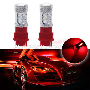 3157 3057 Cree Chip Led Red Drl Daytime Bulbs 6000lm Light Lamps Vehicle 2pcs