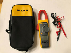 Fluke 375 True Rms Ac Dc Clamp Meter Multimeter With Case Mint