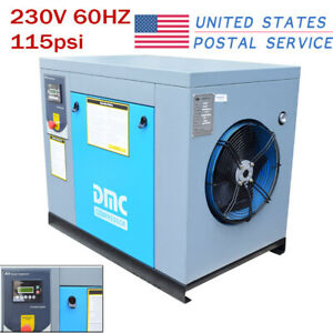Rotary Screw Air Compressor 10hp 115psi 39cfm 230v 60hz 3 phase 3600rpm Hpdmc