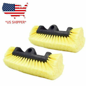 2pc Professional 10 Car Cleaning Wash Brush Head Soft More Bristles Clean Truck