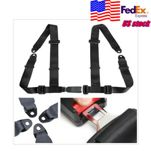 Universal Car Vehicle 4point Racing Sport Safety Harness Seat Belt Bolt In Usa