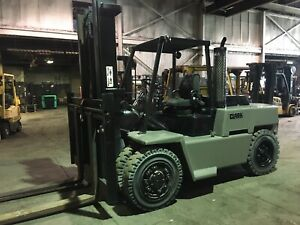 Clark Solid Pneumatic Diesel Forklift 15 500 Lbs Capacity Dual Drives