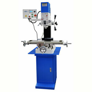 Pm 727v Vertical Bench Top Milling Machine W stand Variable Speed Free Shipping