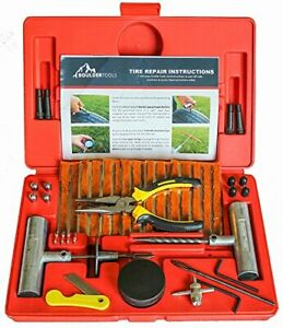 Boulder Tools 56 Pc Heavy Duty Tire Repair Kit For Car Truck Rv Jeep Motorcycle