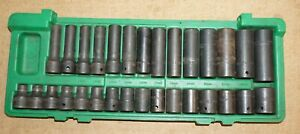 Sk 4053 30 Piece 1 2 Drive 6 Pt Metric Std And Deep Impact Socket Set In Case
