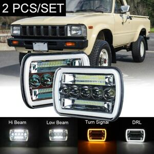 Pair 7x6 5x7 Inch H6054 Sealed Beam Led Headlights For Toyota Pickup Truck
