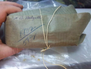 Vintage 1900s Era Pharmacy Bag 1 Pound Of Nutgalls Ground Powder Still In Bag