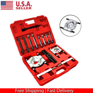 14pcs Bearing Separator Gear Puller Set 2 And 3 Splitters Remove Bearings Kit