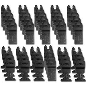 50 Pcs Oscillating Saw Blade Multi Tool For Fein Multimaster Bosch Dremel Makita