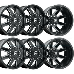 6 New 22 Fuel Maverick D538 Dually Wheels 22x8 25 8x170 125 1 125 1 Black Mille