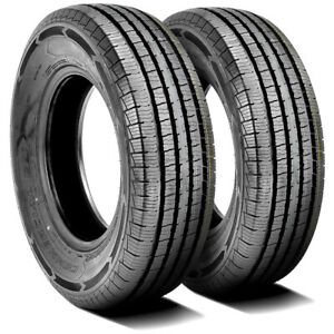 2 New Americus Commercial L T Lt 225 75r16 115 112q E 10 Ply Light Truck Tires