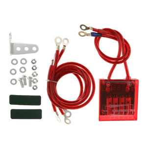 Universal Car Fuel Saver Voltage Stabilizer Regulator With Wries Kit Red