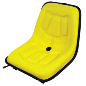 Universal Yellow High Back Seat For Compact Tractors Mowers Lgs100yl