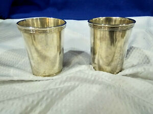 Stewart S Silver Plate Mint Julep Cups Kentucky Derby Set Of 2 Made In Italy