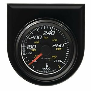 Equus 6242 Water Temperature Gauge Black 2 1 16 Reads From 130 280 Degrees F