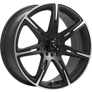 4 New 18x7 5 Icw Racing 210mb Kamikaze Black Wheels Rims 42 5x100