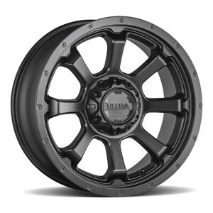 17x9 Ultra 219sb Nemesis Black Wheels Rims 18 6x135 6x5 50 Qty 4