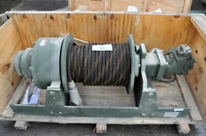 Winch Military Dp Hydraulic 60 000 Lb Planetary 170 Feet 1 Inch Cable