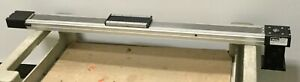 Parker Ball Screw Slide 650mm Travel Stage 156x68mm Input 16mm W adapter Plate