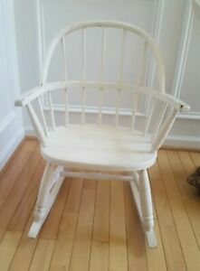 Antique Childs Windsor Rocking Chair Good Condition