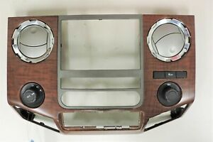 2011 2016 Ford Super Duty Woodgrain Center Dash Bezel Oem Bc34 2504302 C