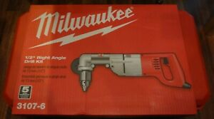 new Milwaukee 3107 6 1 2 Right Angle Drill Kit Sealed In Box And Case
