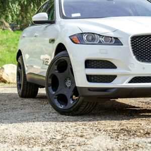 22 Blaque Diamond Bd77 22x10 5 Black Concave Wheels Rims Tires Jaguar F Pace