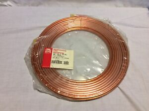 50 Ft Mueller 1 4 X 030 Copper Refrigeration Tubing Dehydrated