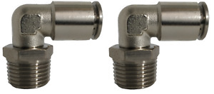 Air Suspension System 2 Fittings 90 1 2 Npt Male To 1 2 Air Hose Push In Bag