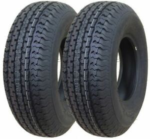 2 New Freedom Hauler St Radial St205 75r15 Load D 8 Ply Trailer Tires
