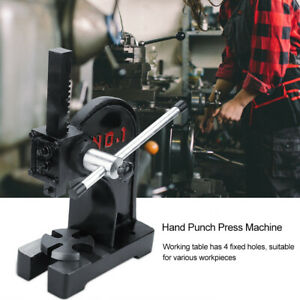 1 Ton Arbor Press Manual Punch Machine Install Bearings U Joints Pins Assembly